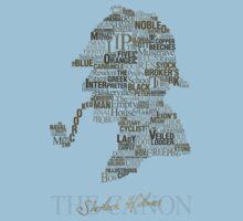 Sherlock Holmes The Canon (white) Kids Tee