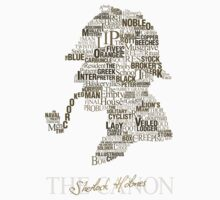 Sherlock Holmes The Canon (white) Kids Clothes