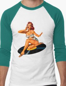 Rockabilly Goddess Men's Baseball ¾ T-Shirt