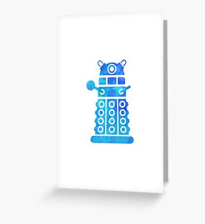 dalek blue version Greeting Card