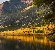 Autumn Fly Fisherman by Bo Insogna