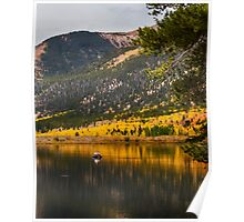 Autumn Fly Fisherman Poster