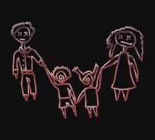 The Creepy Family Red Kids Clothes