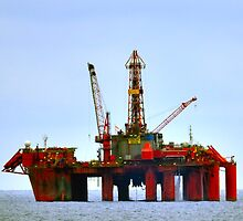 North Sea Rig: Borgland Dolphin by Steve