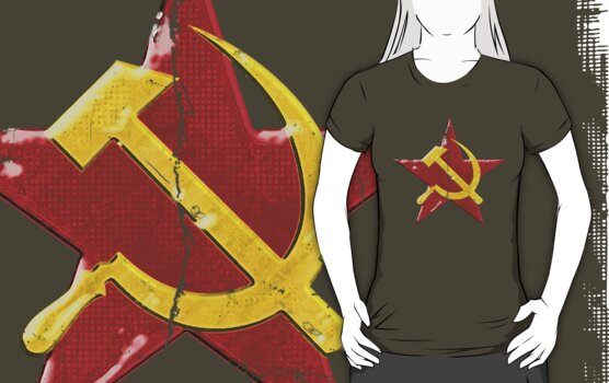 Large distressed Soviet symbol by puppaluppa