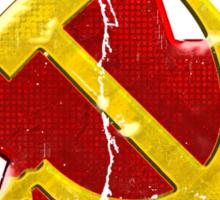 Large distressed Soviet symbol Sticker