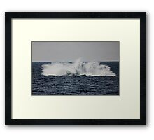 A Whale of a Splash ~ Outer Great Barrier Reef Framed Print