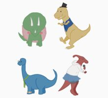 Four Awesome Dinosaurs Kids Clothes