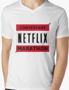 Netflix Marathon Mens V-Neck T-Shirt