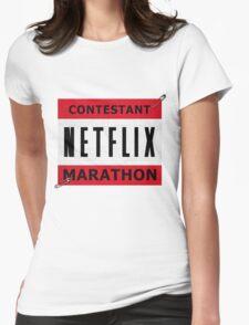 Netflix Marathon Womens Fitted T-Shirt