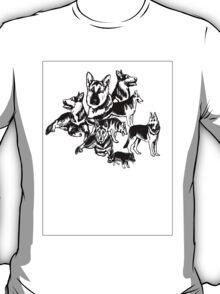 German Shephed Dog collage T-Shirt
