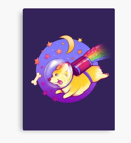 See You Space Corgi Canvas Print