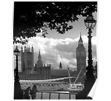 Parliament (a view from the South Bank) Poster