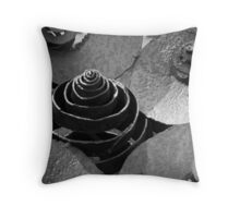 Metal sculpture in B&W Throw Pillow