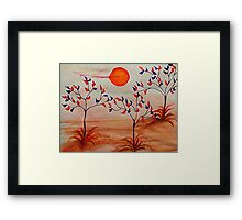 Cutie Fall, , Happy Halloween, watercolor Framed Print