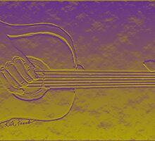 3D Guitar Abstract  by kreativekate