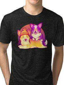 Cunning Corgis Tri-blend T-Shirt