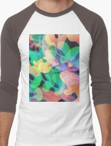 Abstract multi color background. Men's Baseball ¾ T-Shirt