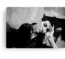 Portrait of a man resting Canvas Print