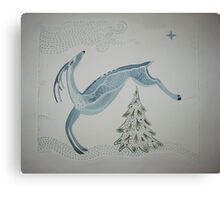 Blue Deer Canvas Print