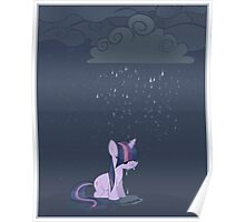 Rainy day pony Poster