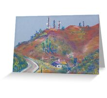 The Road to Fallbrook (pastel) Greeting Card