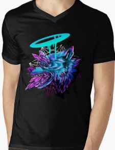 Crystal Wolf  Mens V-Neck T-Shirt
