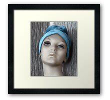 Blue Turban Framed Print