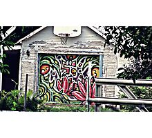 Garage Door Graffiti Photographic Print