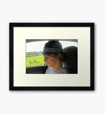 Dimples & A Fedora... Framed Print