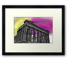 Panthenon - Athens - Surrealism Framed Print