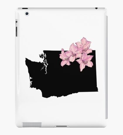 Washington Silhouette and Flowers iPad Case/Skin