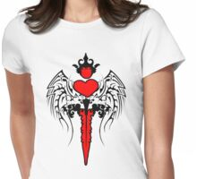 Heart Hilted Sword Womens Fitted T-Shirt
