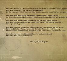Destiny PS4 by Jamie Keenan