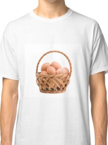 eggs in wicker basket  Classic T-Shirt