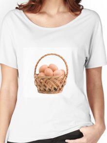 eggs in wicker basket  Women's Relaxed Fit T-Shirt