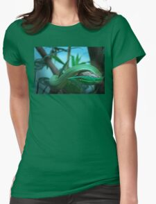 Green Tree Snake Womens Fitted T-Shirt
