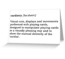 Cardistry Definition Greeting Card