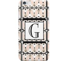 1920s Pink Champagne Gatsby Monogram letter G iPhone Case/Skin