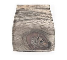 Old Weathered Wood with Knot Mini Skirt