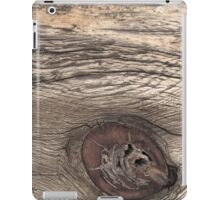 Old Weathered Wood with Knot iPad Case/Skin