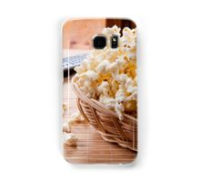 basket full of many crunchy popcorn Samsung Galaxy Case/Skin