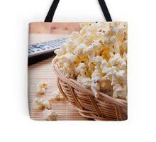 basket full of many crunchy popcorn Tote Bag