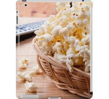 basket full of many crunchy popcorn iPad Case/Skin