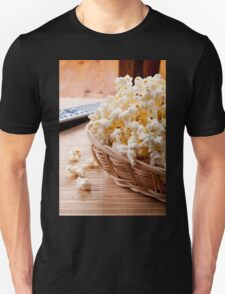 basket full of many crunchy popcorn Unisex T-Shirt