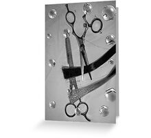 Shear Cut b&w cartoon 2 Greeting Card