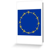 EU Barb Wire Greeting Card