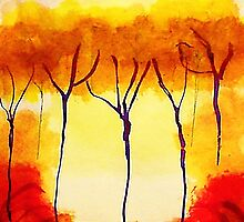 Is it Fall,,yet? watercolor by Anna  Lewis
