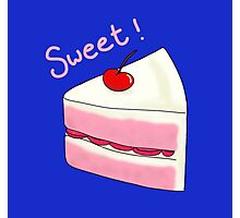 Sweet Strawberry Cake Photographic Print