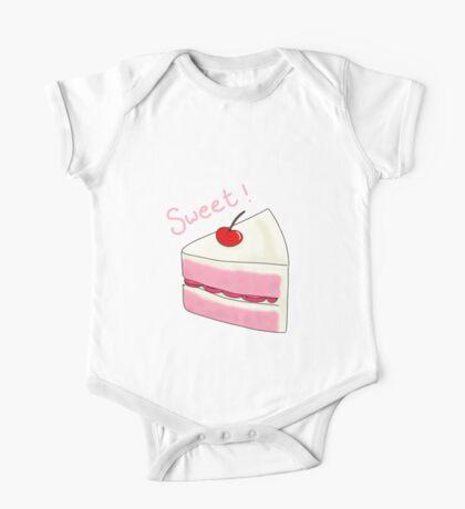 Sweet Strawberry Cake One Piece - Short Sleeve